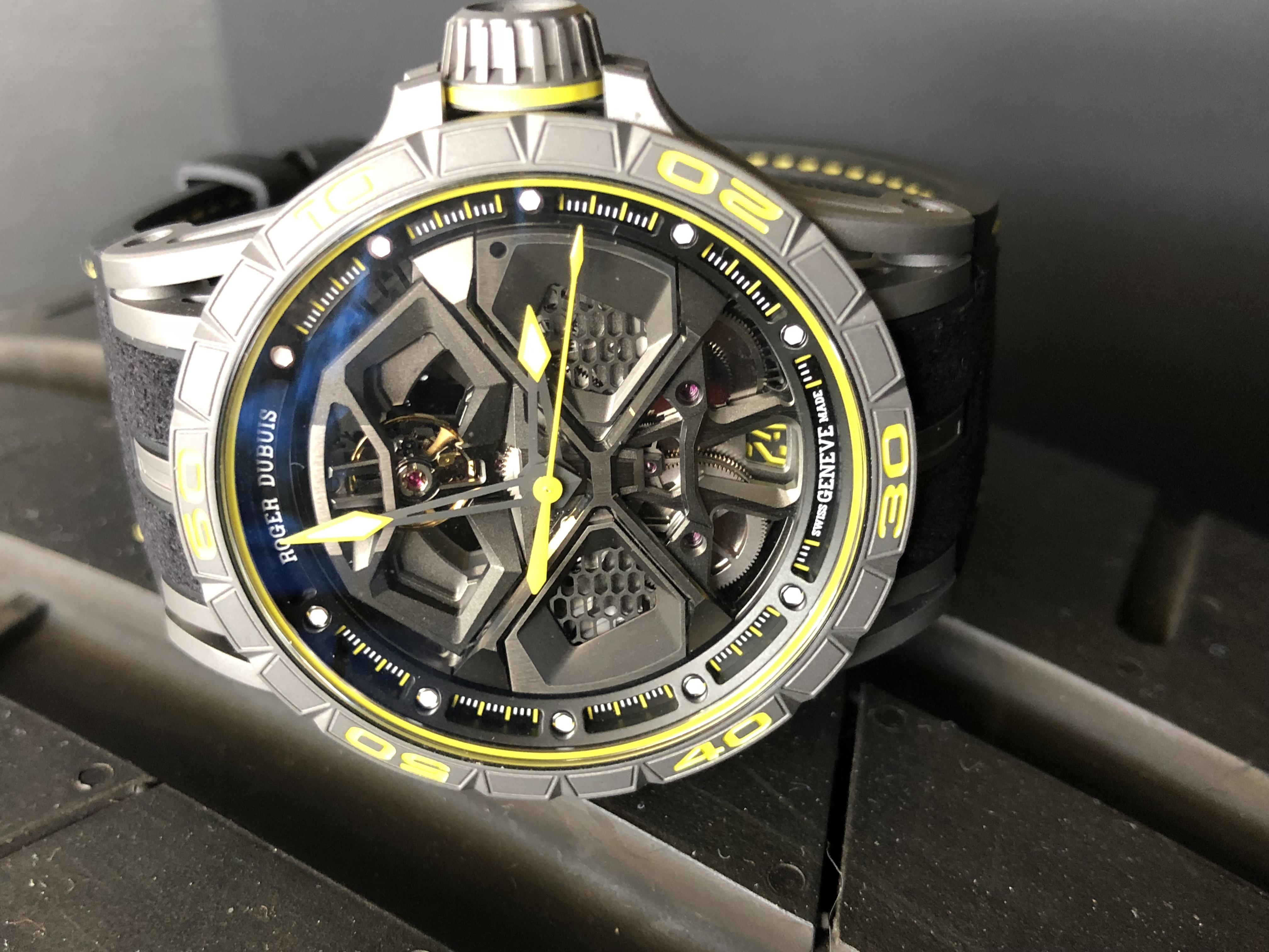 Roger Dubuis Excalibur Huracan Performante Lamborghini watch