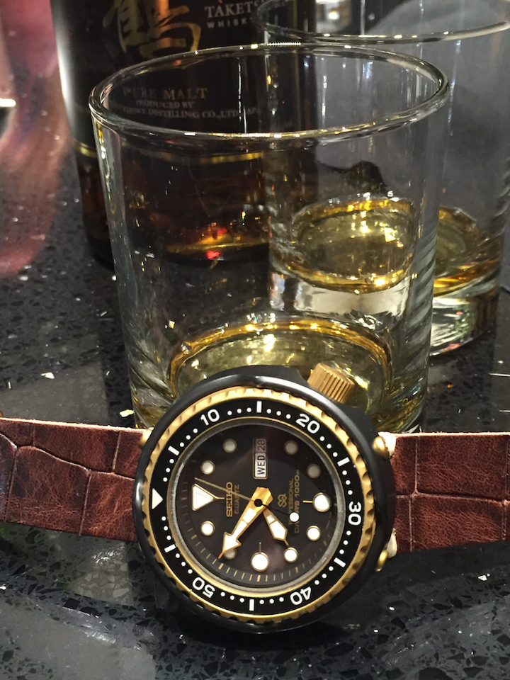 Seiko watches and Japanese Whiskey-- the perfect pair, at the Seiko Miami boutique opening.