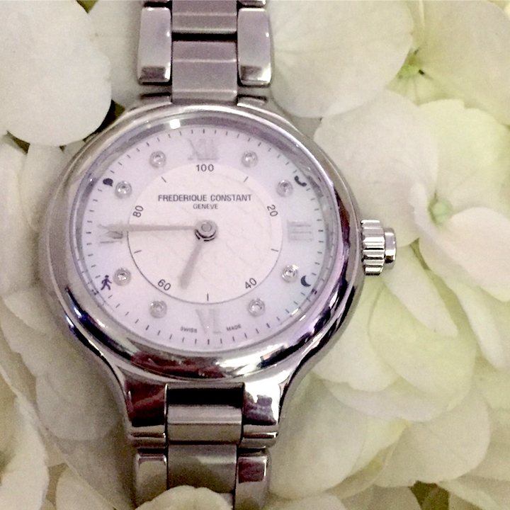Frederique Constant Horological Smartwatch for women.
