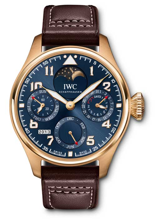 The Big Pilot's Watch Perpetual Calendar Edition ''Le Petit Prince'' (here in red gold, Ref. IW502802) fuses elegance and mechanical craftsmanship of the highest order.