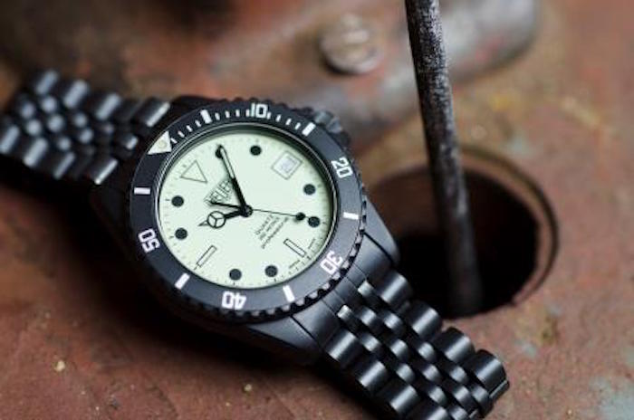 "Heuer Night Dive model 980.031 quartz James Bond watch, ""The Living Daylights"""