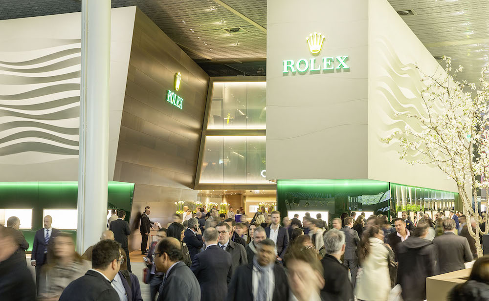 "The exhibition ""booths"" inside Baselworld are multi-storied wonderlands of watches."