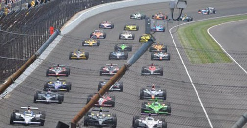 Starting field, Indy 500 track.
