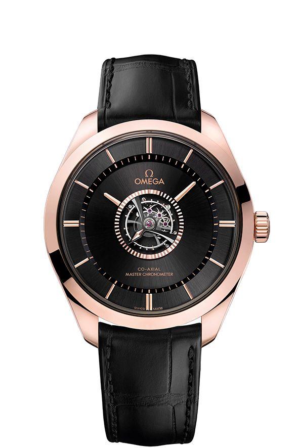 central tourbillon watches, anti-magnetic watches, Omega De Ville Co-Axial Tourbillon Master Chronometer