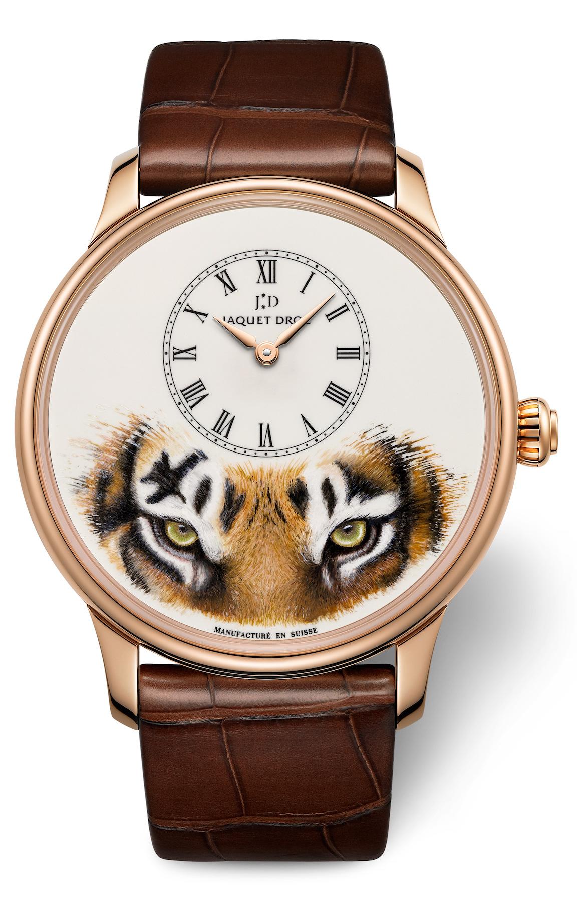 Jaquet Droz Petite Heure Minutes Tiger