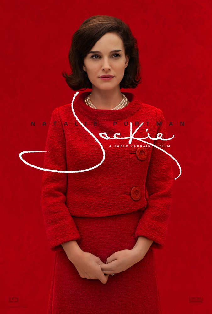 Poster of the new movie, Jackie, starring Natalie Portman.
