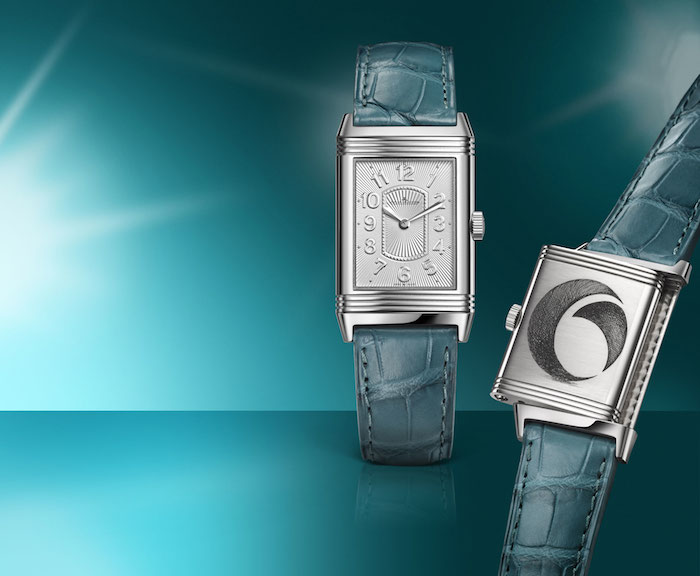 The Jaeger-LeCoultre Grand Reverso Ultra-Thin Lady Ovarian National Cancer Alliance watch.