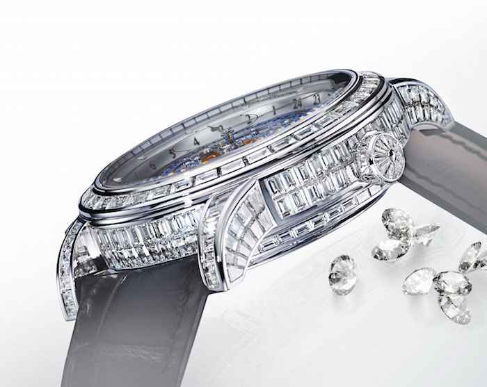 It is ensconced in diamonds for the person who wants the whole package.