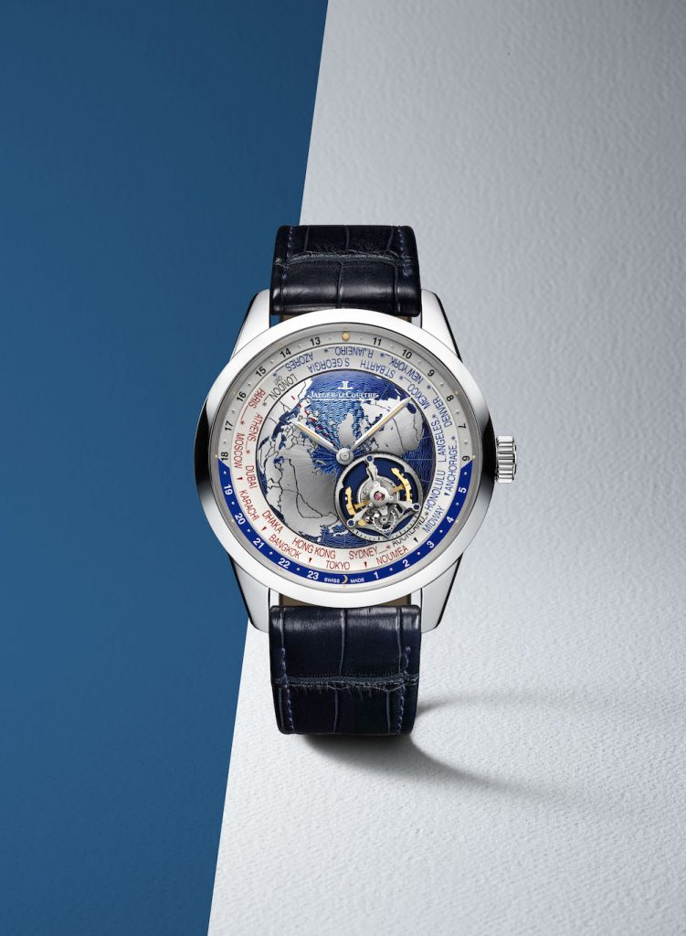 All functions of the Jaeger-LeCoultre Geophysic Tourbillon Universal Time are operated off of a single crown.