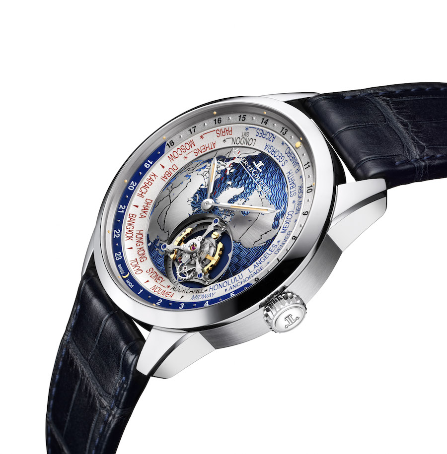The movement of the Geophysic Tourbillon Universal Time watch consists of 375 parts.