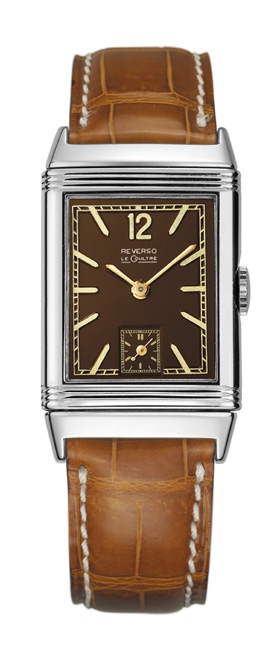 A look at the historical Jaeger-LeCoultre Reverso from 1934 for the logo inspiration.