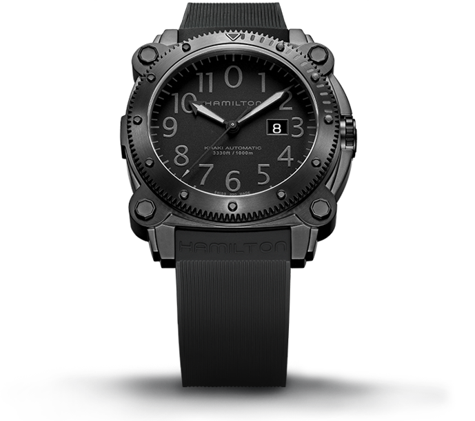The stainless steel PVD watch offers rugged and precise function