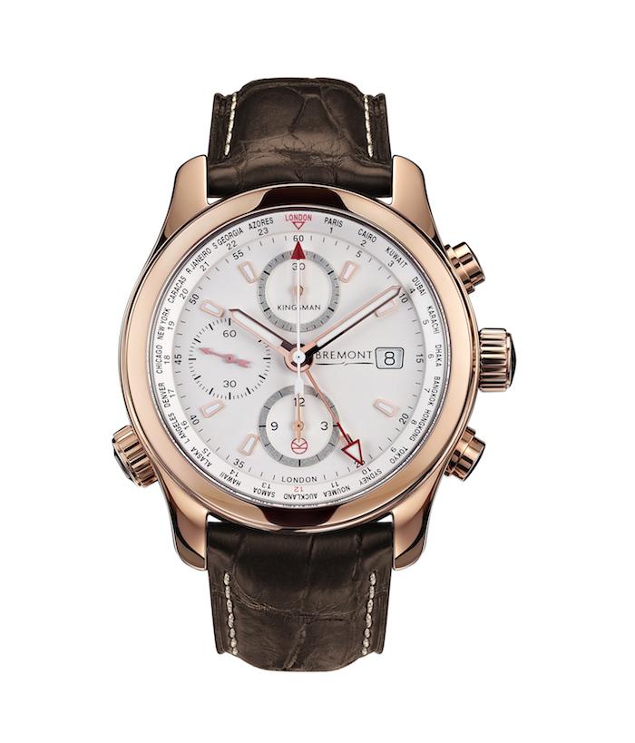 Bremont Kingsman Special Edition 18-karat gold world timer chronograph
