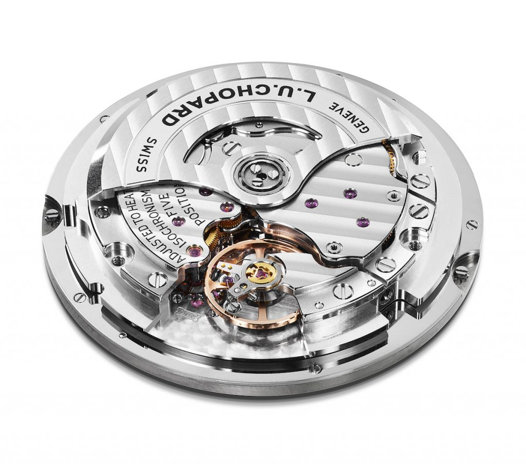 Like all L.U.C movements, this Chopard L.U.C Time Traveler One is a COSC certified chronometer.