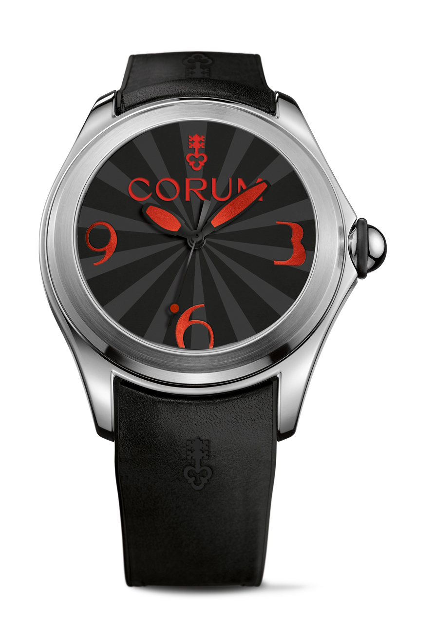 Corum uses SuperLuminova to create the bold hues and color effect in the dark.