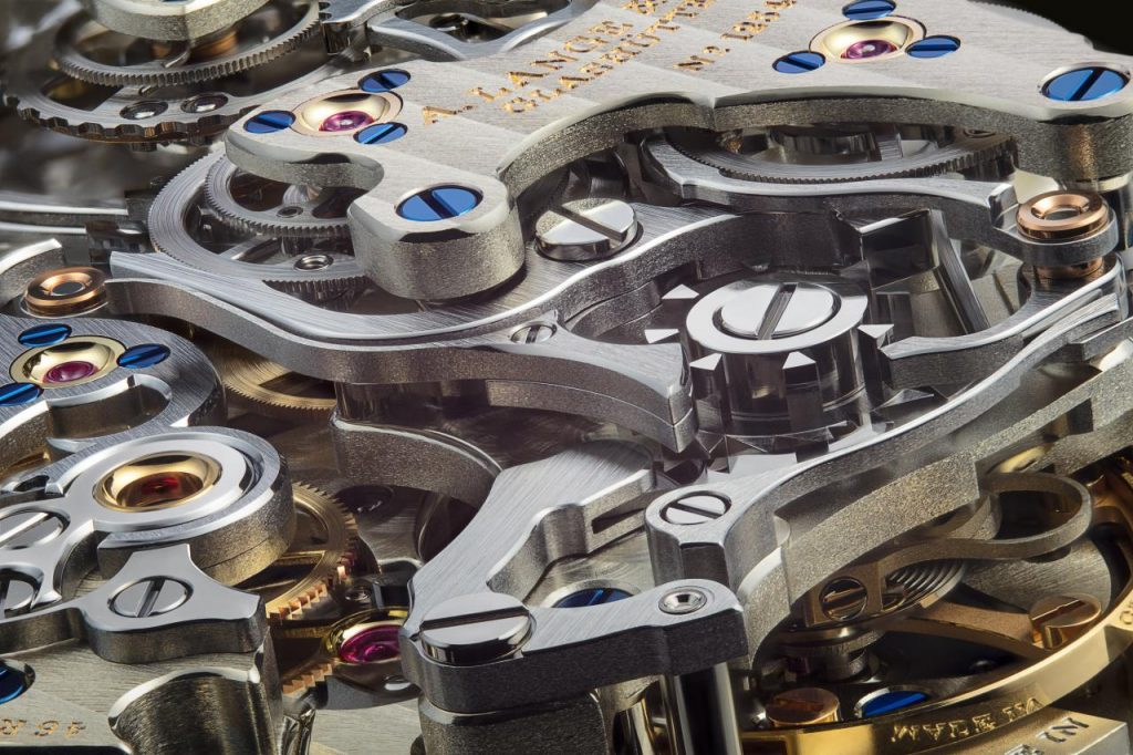 The complex movement of the A. Lange & Sohne Triple Split chronograph consists of 567 parts.
