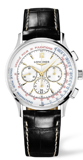 The new Longines watch measures pulse and respiration