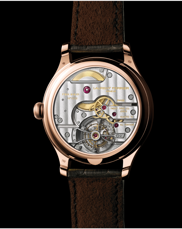 A close-up look at the back of the Classic shows the ingenuity and elegance of the caliber.