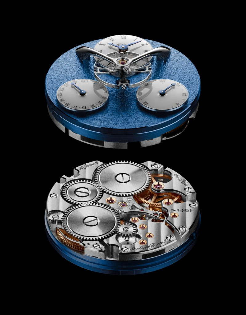 Splitting the escapement for the MB&F LM SE watch, and placing components on different sides of the engine, required extreme technical prowess and an extra long arbour.
