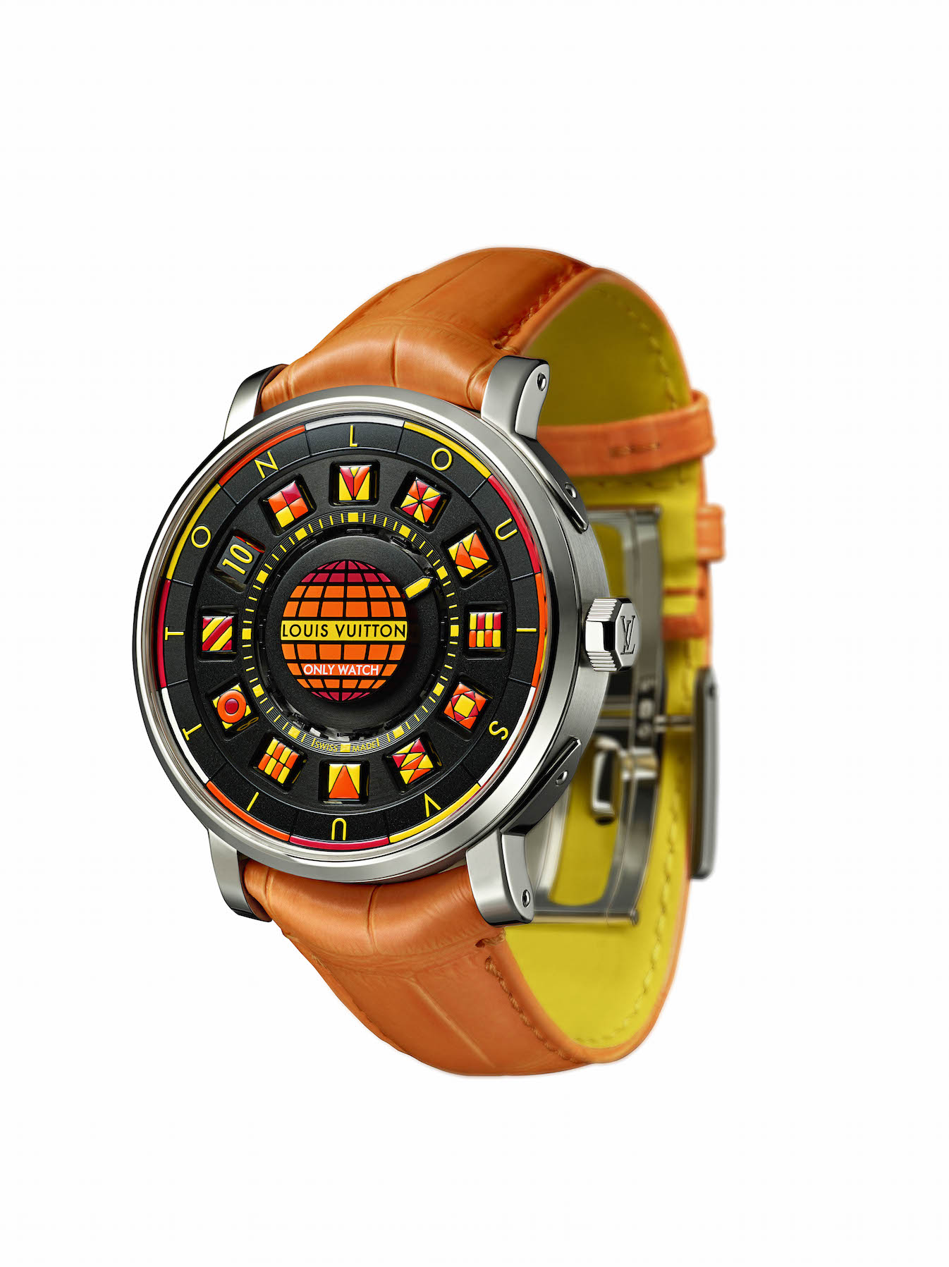 Montre Louis Vuitton  Escale Spin Time Black and Fire Only  Watch