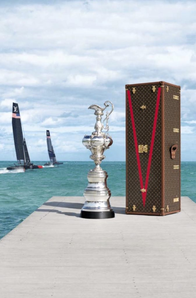 Louis Vuitton has commissioned a Challengers Cup trophy and created travel trunks for it and for the America's Cup trophy.