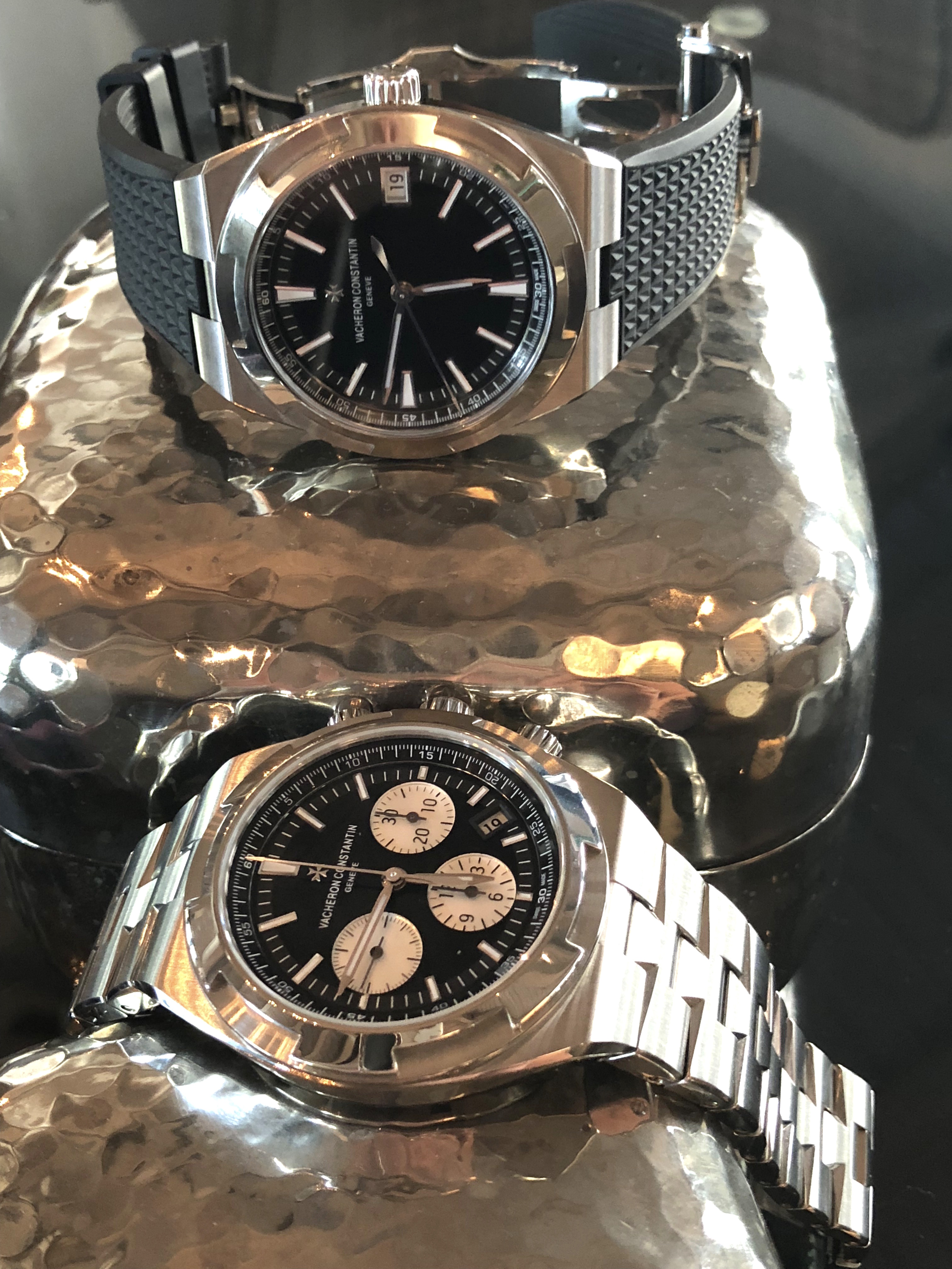 Let's not forget the great Vacheron Constantin Overseas black dial watches