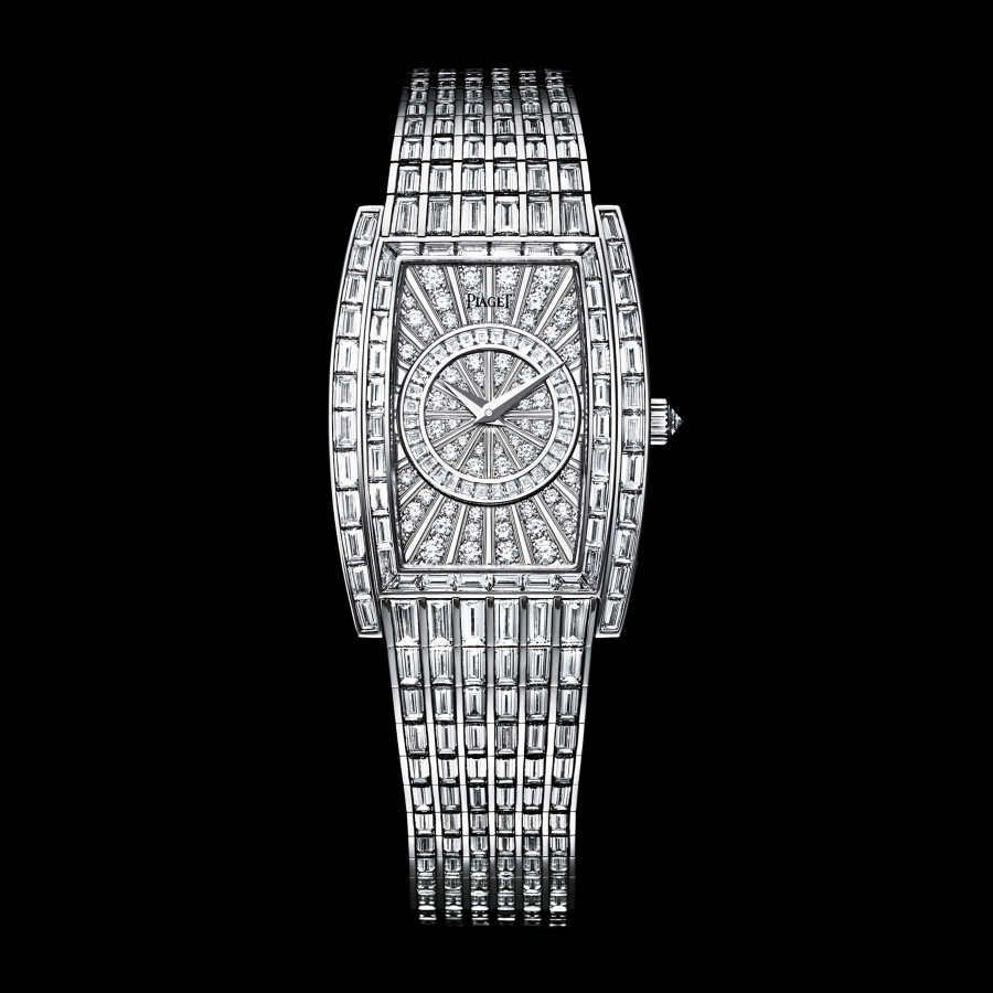 Piaget Limelight, tonneau-shpaed case with rectangular dial