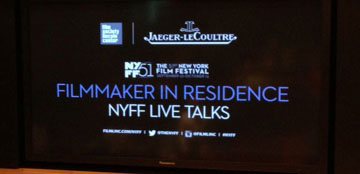 NYFF Live Talks last night, with the first filmmaker in residence program bringing Andrea Arnold to NY.