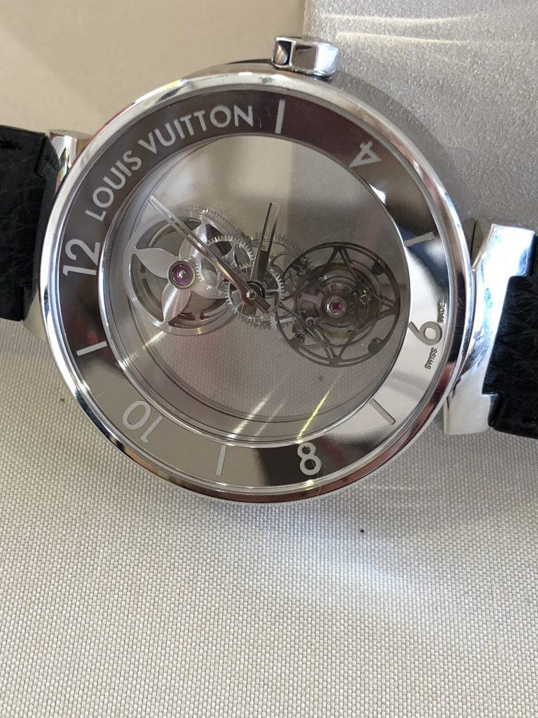 Louis Vuitton Tambour Moon Mystérieuse Flying Tourbillon shown for the first time in the USA during Watches & Wonders Miami.