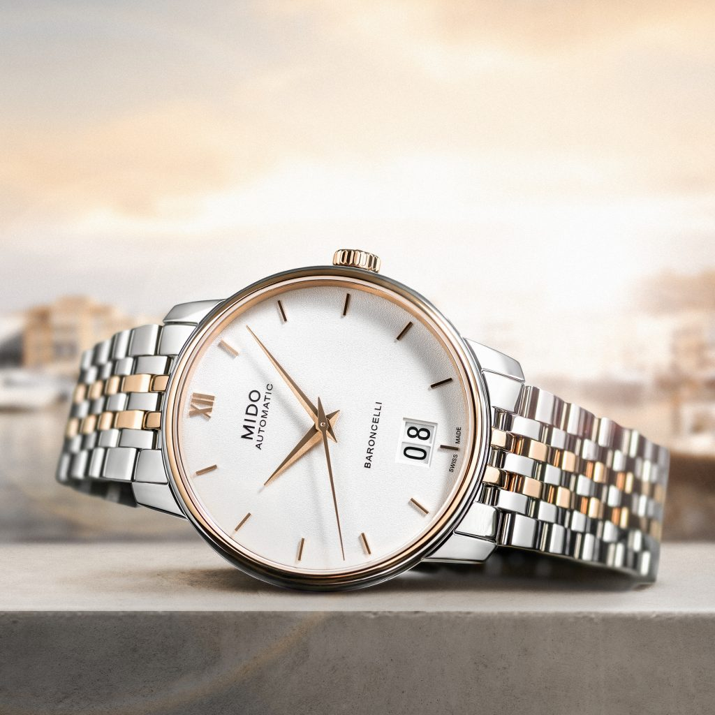 Mido Automatic Baroncelli Big Date watch celebrates 100 years of this Swiss watch brand.