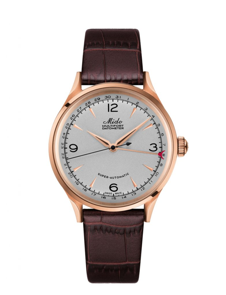 The Mido Multifort Datometer is inspired by a timepiece from the 1930's.