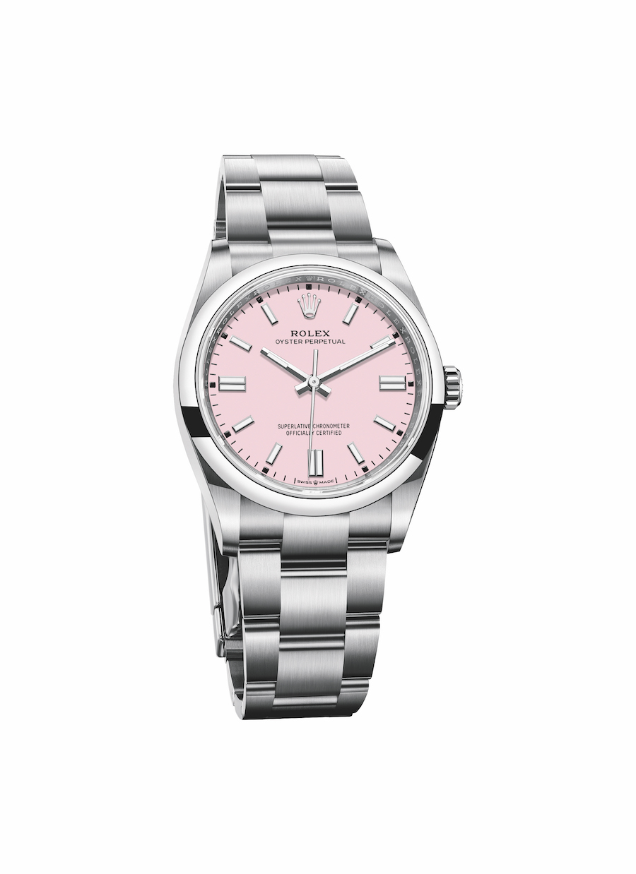Rolex Oyster Perpetual candy pink