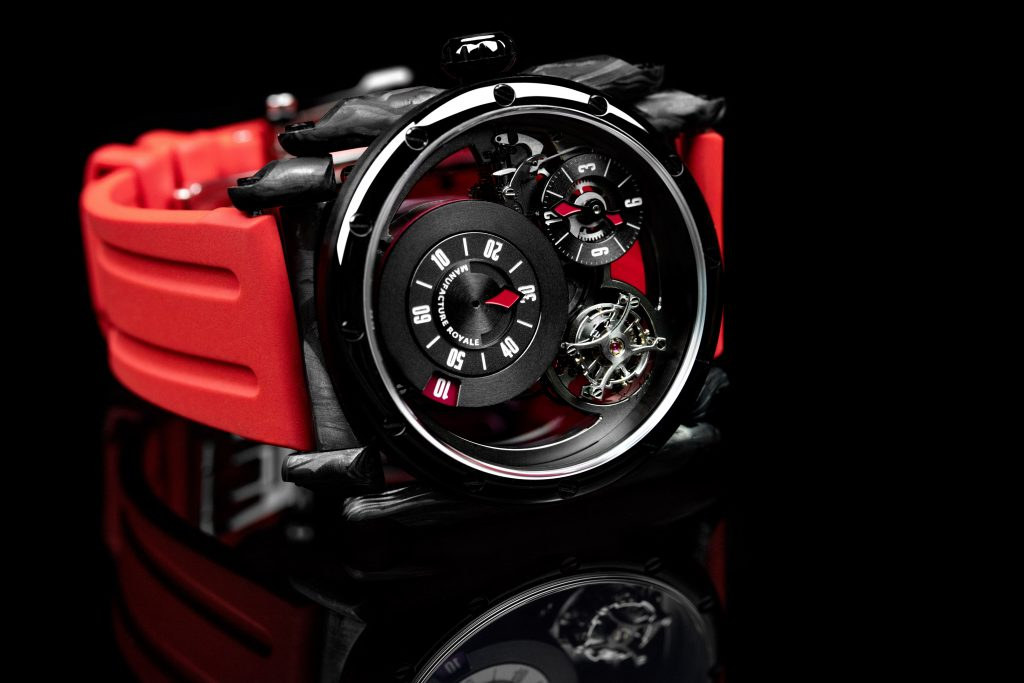 Manufacture Royale ADN in Black DLC and forged carbon.