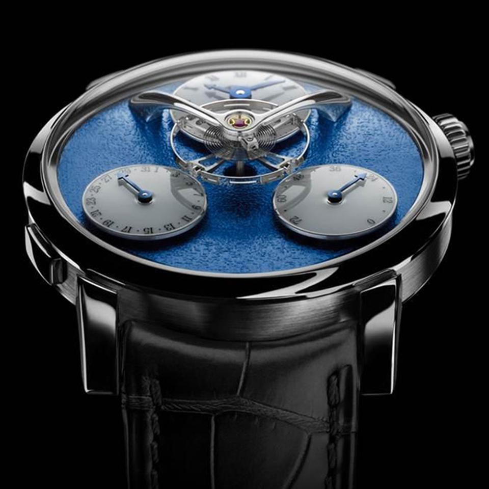 MB&F Legacy Machine Split Escapement made its US debut at WatchTime New York 2017.