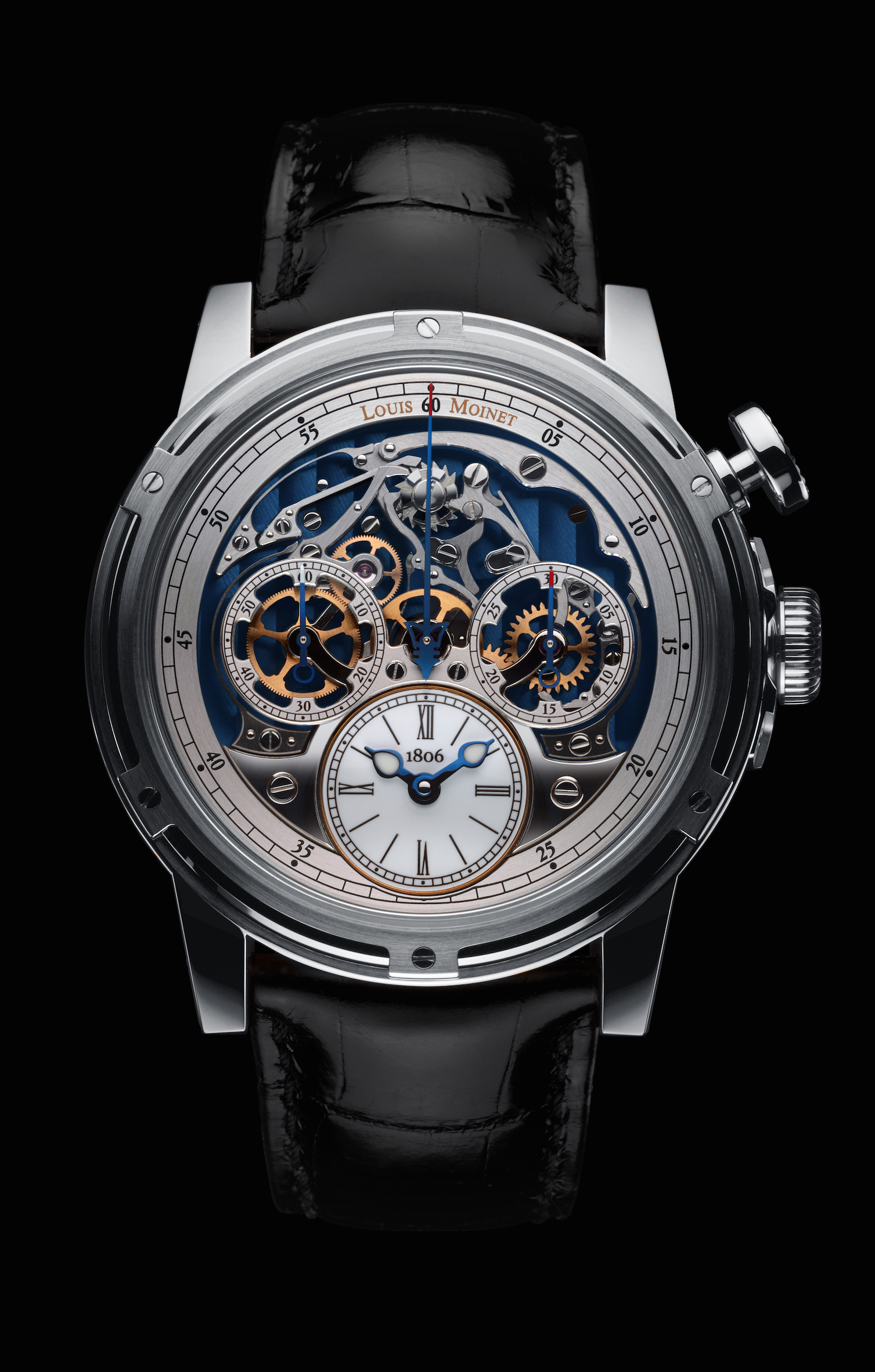 Louis Moinet Memoris in white gold