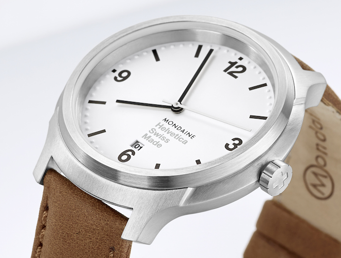 Mondaine Helvetica offers clean, crisp design based on the iconic type face.