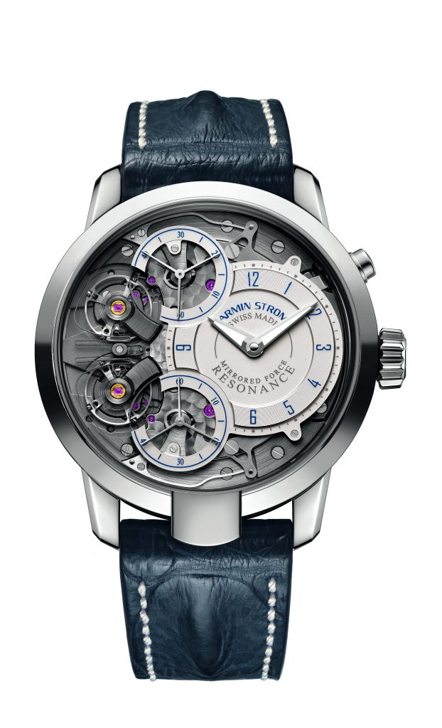 The Armin Strom Mirrored Force Resonance Water watch retails for approximately $54,000.