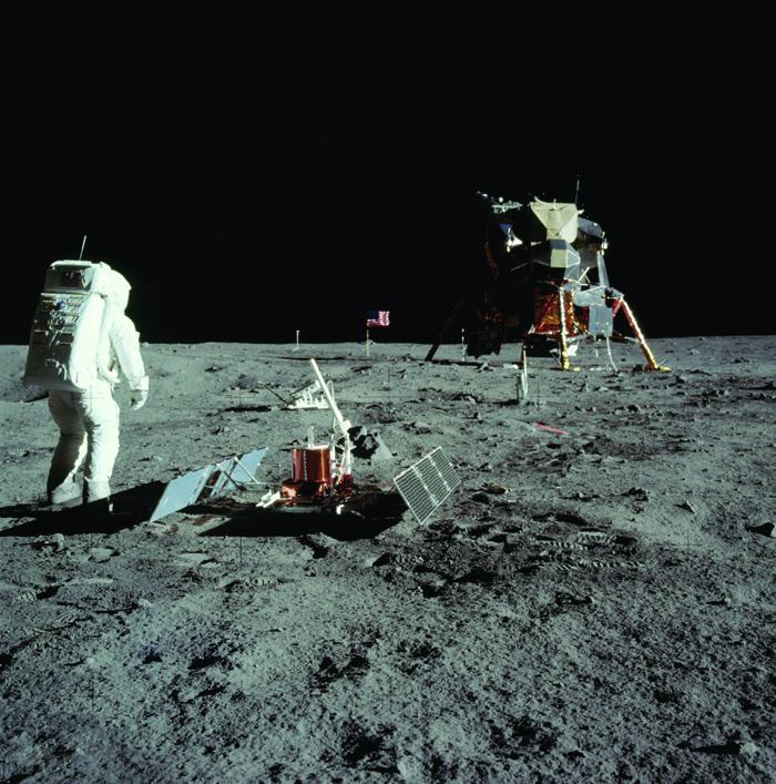 Apollo 11 mission on the moon