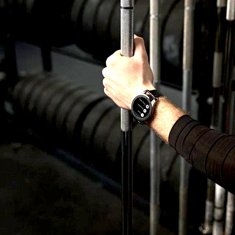 Montblanc Summit Smart watch in digital mode.