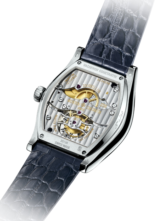 The Malte Tourbillon houses a 169-part caliber visible from the sapphire crystal caseback.