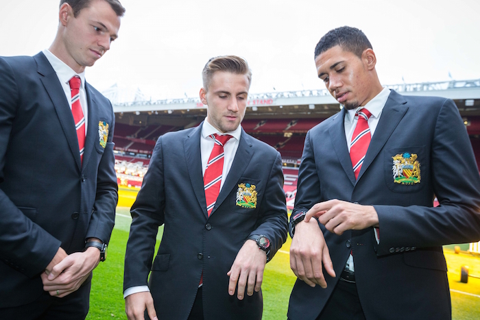 Manchester United Team players each got to customize their own Treble watch