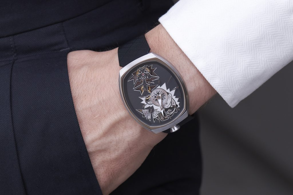 The new Fiona Kruger Chaos Mechanical Entropy watch houses the Chaos movement, made by Agenhor to Kruger's design.