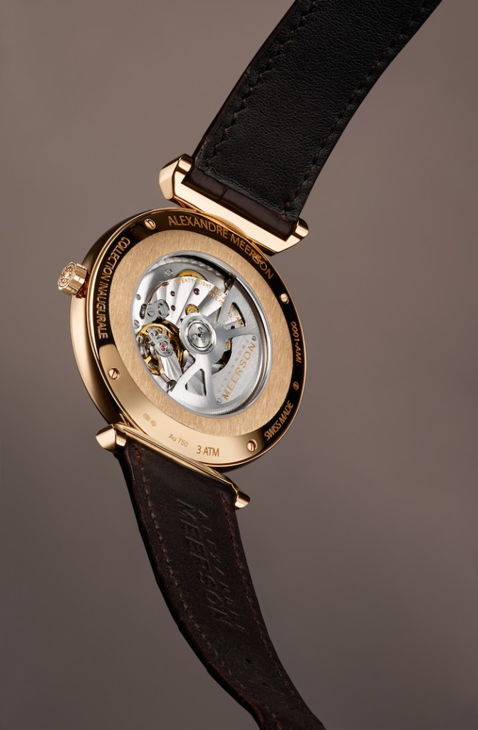 The Altitude timepieces feature modified Vaucher movements, dubbed the AM-4808 by Meerson.