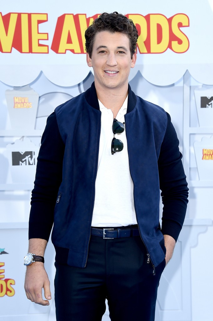attends the 2015 MTV Movie Awards at Nokia Theatre L.A. Live on April 12, 2015 in Los Angeles, California.