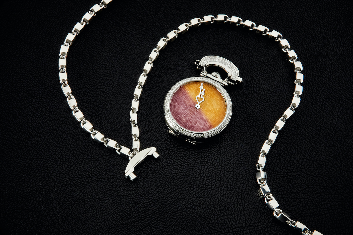 Bovet Miss Audrey Sweet Art watch features a dial made of sugar crystals.