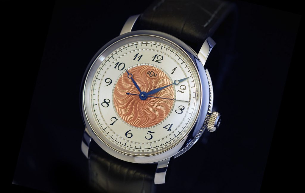 RGM's Model 25 in copper moire is one of the brand's 25th anniversary watches.