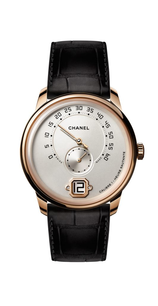 Monsieur de Chanel watch in 18-karat Beige gold