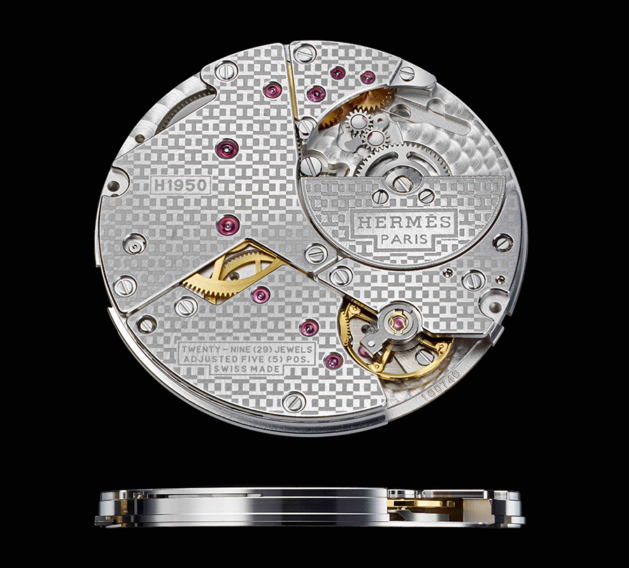 H1950 Slim d' Hermes perpetual calendar movement by Vaucher with Agenhor module
