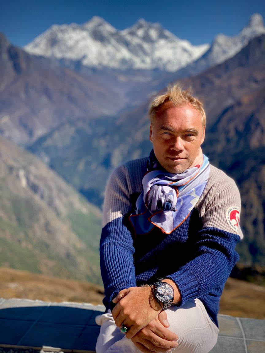 Mountain climber Johan Ernst Nilson