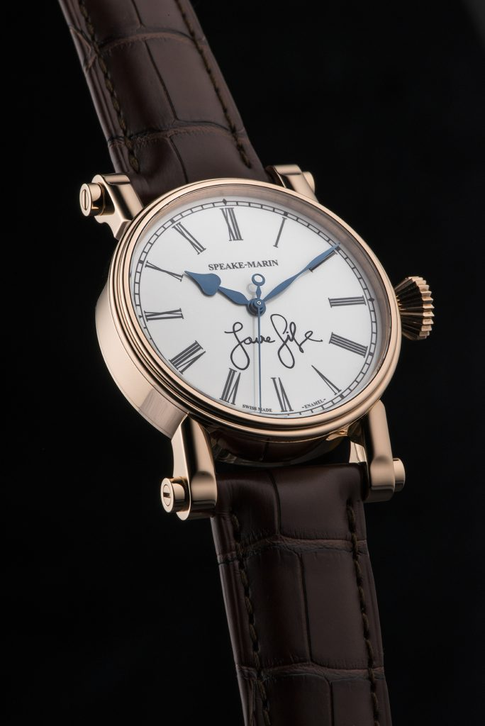 "The Speake-Marin Resilience ""Love Life"" watch has the words written by brand ambassador Pierce Brosnan on the dial. It is being auctioned for Only Watch 2017."